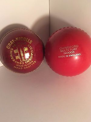 Collection of 2 Cricket Balls - Gary Nichols & Chingford Indoor Ball
