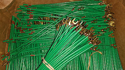 "X1000 Ground Pig Tail 10008 Wire 8"" 12 AWG Stranded #10 Flanged Spade Green"