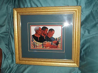 """African American Framed Art Print By Keith Mallet 17"""" X 15"""" 3 """"Generations"""""""