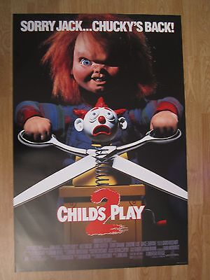 MOVIE POSTER :  Child's Play 2 1990 Original US One Sheet Movie Poster  Chucky