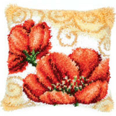 Vervaco Latch Hook  Cushion Kit : Poppies