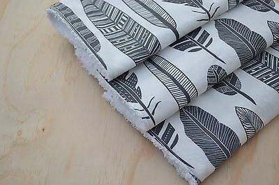 Baby Burp Cloth, Toweling Back-Grey Feathers, set of 3