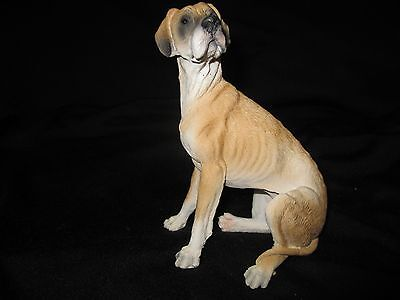 Great Dane brown dog figure Castagna hand made & hand painted made in Italy