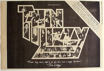 THIN LIZZY 1979 Poster Ad UK CONCERTS