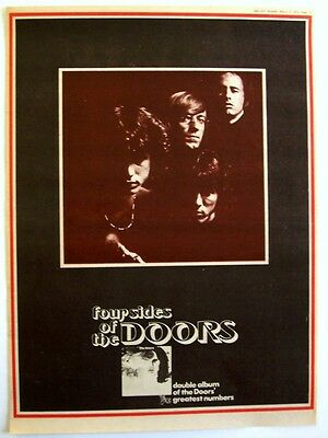 THE DOORS 1972 Poster Ad WEIRD SCENES INSIDE THE GOLD MINE