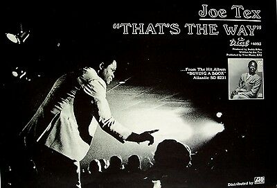 JOE TEX 1969 Poster Ad THAT'S THE WAY buying a book