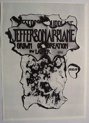 JEFFERSON AIRPLANE 1968 Poster Ad CROWN OF CREATION