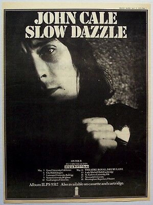 JOHN CALE 1975 Poster Ad SLOW DAZZLE