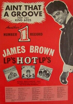 JAMES BROWN 1966 Poster Ad AIN'T THAT A GROOVE
