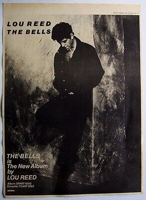 LOU REED 1979 Poster Ad THE BELLS