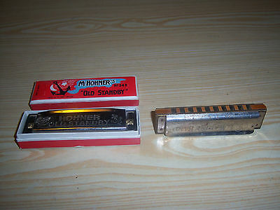 Hohner Harmonica Marine Band A4440 - C & Old Standby- G No. 34B in Box