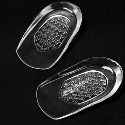 Gel Heel Support Pads Cup Silicone Shock Cushion Orthotic Insole Plantar Care