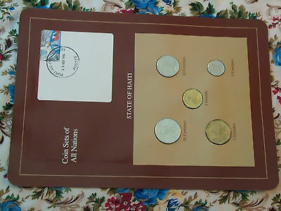 Coin Sets of All Nations Haiti UNC 1,5 Gourde 50,20 Centimes 1995 5 cent 1997