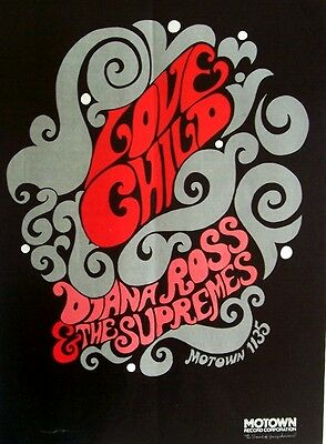 DIANA ROSS & THE SUPREMES 1968 Poster Ad LOVE CHILD motown