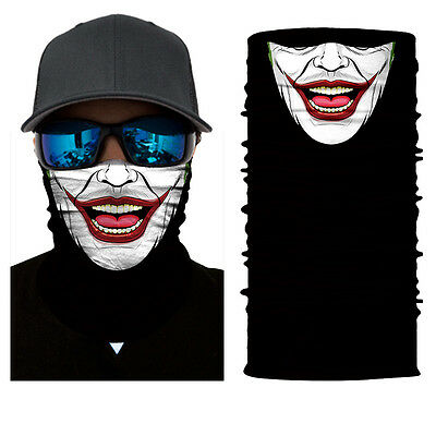 Balaclava Neck Gaiter Neckerchief Funny Clown Joker Face Shield Sun Mask