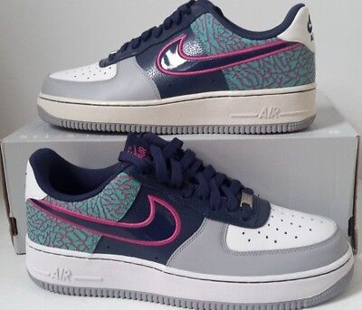 huge selection of fc4fa fa4e1 NEW Nike Air Force 1 Low Midnight Navy Fusion Pink White SZ 9 ( 488298-