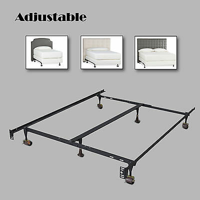 heavy duty metal bed frame adjustable twin full queen wcenter support platform