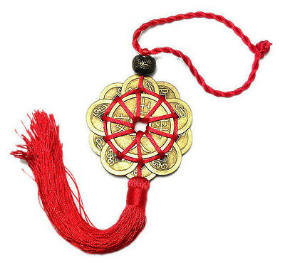 Feng Shui Chinese Coins Coin for good Luck PROSPERITY PROTECTION Charm Tassel YG