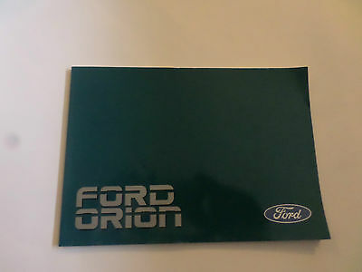 Ford Orion Owners Handbook Great condition.