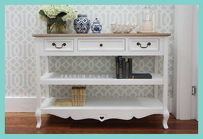 *IN STOCK NOW* NEW French Provincial Hamptons Style pine/white console table