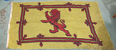 Red Lion Rampant Double Border Yellow Back Royal Standard Banner Of Scotland