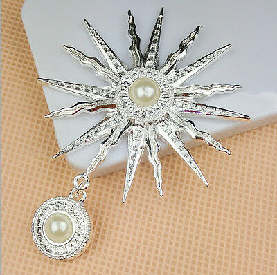 Alloy Sun Flower With Pearl Pendant  for phone/Wedding decoration craft DIY