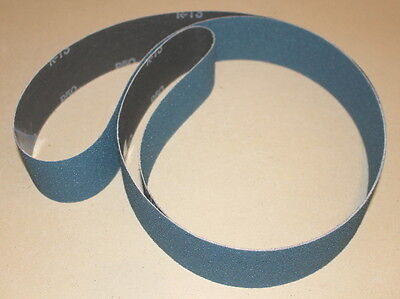 "2"" x 72"" Aluminum Zirconia AZ Sanding Belt Assortment P36, 50, 80 grit - 6 Belts"