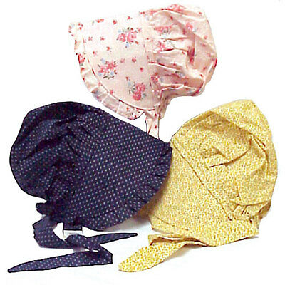 ONE prairie BONNET SMALL assorted dress-up PILGRIM thanksgiving PLAY costume HAT