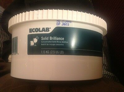 New & Fresh. Ecolab #25395 Concentrated Solid Brilliance Rinse Additive. (Green)