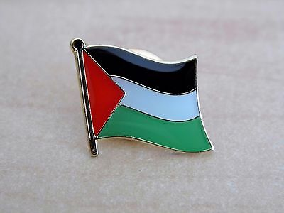 Palestine Palestinian Flag Country Metal Enamel Lapel Pin Badge