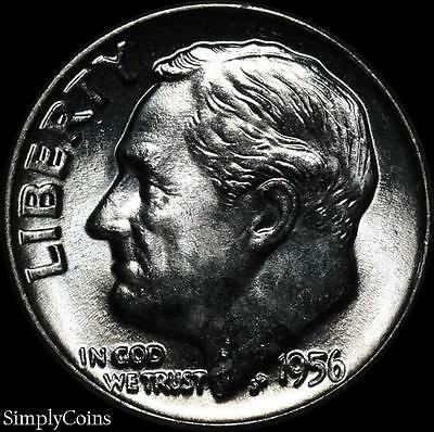 1956-D Roosevelt Dime ~ BU Uncirculated ~ LUSTER! 90% Silver US Coin