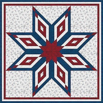 USA-AMERICAN PRIDE STAR QUILT TOP - Not Quilted-Machine Pieced, Made in the USA!