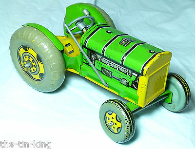 SUPER LARGE VINTAGE C1950's TIN PLATE TOY TRACTOR METTOY