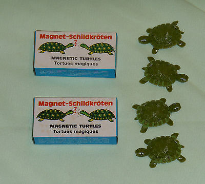 vintage MAGNETIC TURTLES MIB lot of 2 pairs