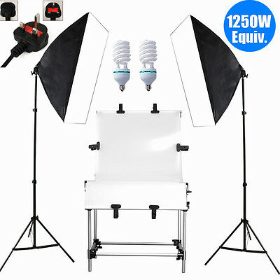 Studio Softbox Continuous Lighting Still Life Shooting Product Display Table Kit