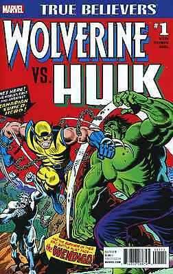 True Believers Incredible Hulk Vs Wolverine 1 181 Reprint Nm Pre-Sale 2/1