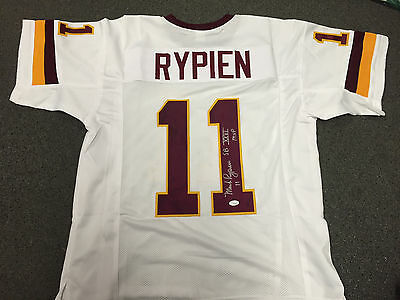 MARK RYPIEN WASHINGTON REDSKINS Autographed SIGNED Jersey JSA COA Signature