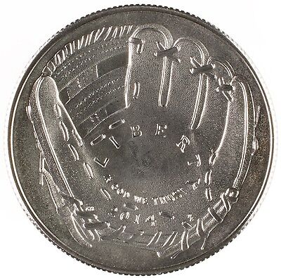 2014-D National Baseball Hall of Fame Uncirculated Half Dollar Coin