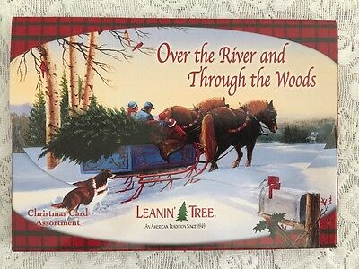 leanin tree cards 20 Cards (10 Designs)- Over The River And Through The Woods -
