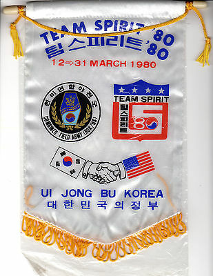 KOREA OLYMPICS Combined Field Army (ROK/US) 1980 two banners, MINT