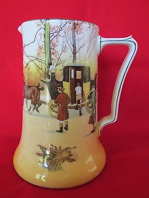 Royal Doulton Coaching Scene Large Jug Horses Coach People