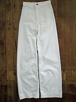 VTG Levi's Strauss SF CAL Pants White Cotton Hippy Flare Juniors 23x29 Eagle GUC