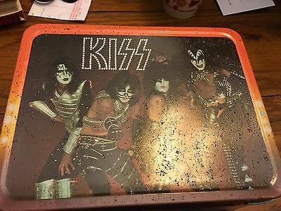 Original KISS Vintage 1977 Metal Lunchbox  complete with Thermos