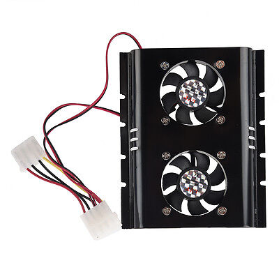 Hot Sale Practical Black 3.5 SATA IDE Hard Disk Drive HDD 2 Fan Cooler for PC HY