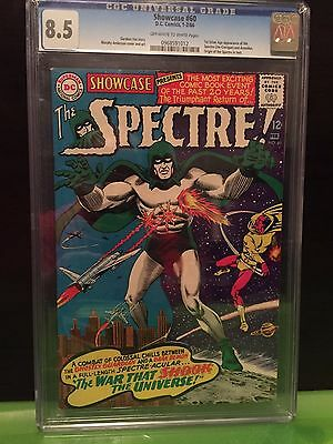 SHOWCASE #60 CGC VF+ 8.5; OW-W; 1st Silver Age Spectre!