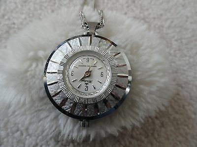 Swiss Made Heritage Wind Up Necklace Pendant Watch - Runs Fast