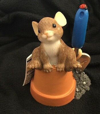 2010 Enesco Charming Tails Leaf & Acorn READY To Grow With You Members Figurine