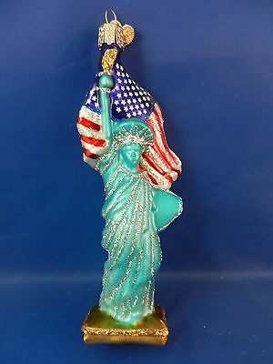 Statue Of Liberty New York Glass Merck Old World Christmas Ornament NWT 10181