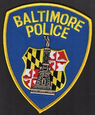 Baltimore Maryland Police Patch ** 100% Authentic W/Authority Emblem On Back USA