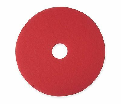 TOUGH GUY - 5100 - 14 In. Red Buffing and Cleaning Pad Non-Woven Poly Fiber 5 Pk